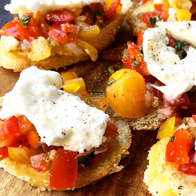 Brushetta tomaat Mozzarella!