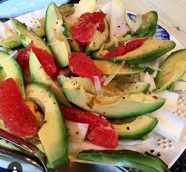 Witlof-pecorino-grapefruit salade!