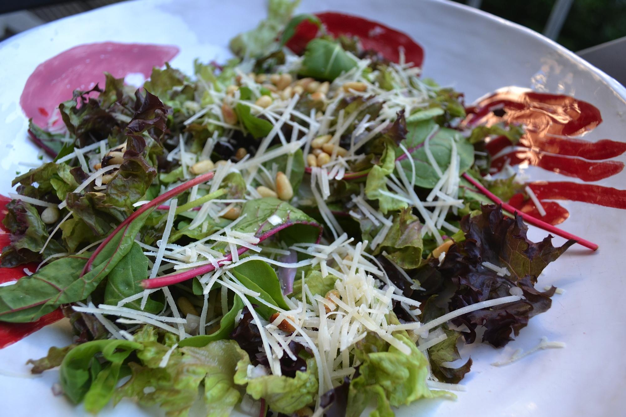 Simpele salade als bijgerecht