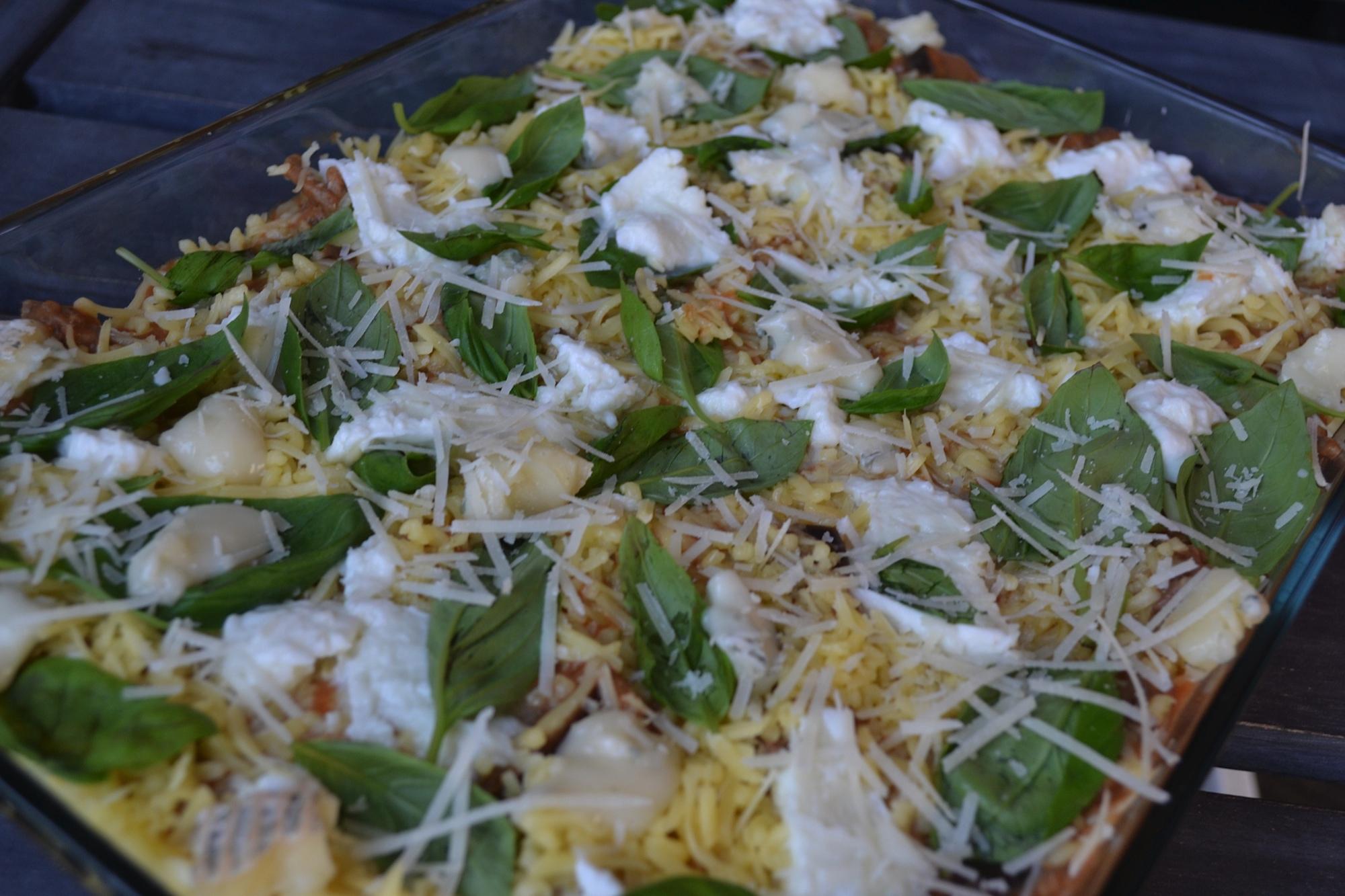 Lasagne met gorgonzola en peer