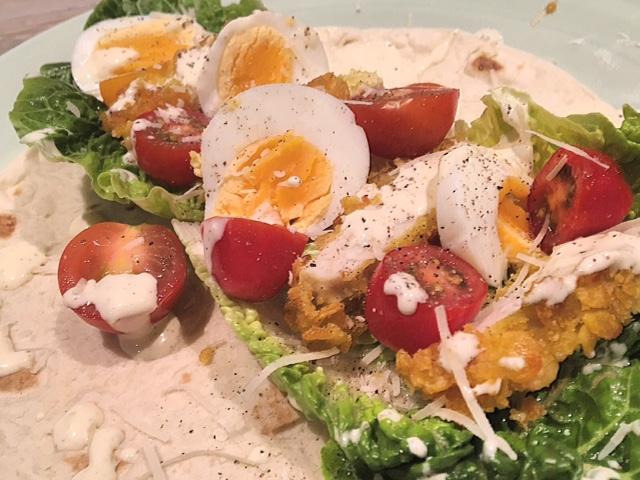 Ceasar salade wrap